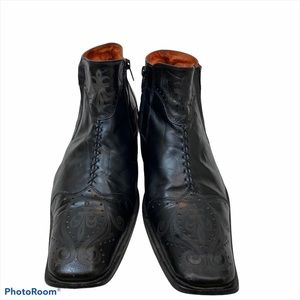 Robert Wayne Black Leather Durango Boots Size 11